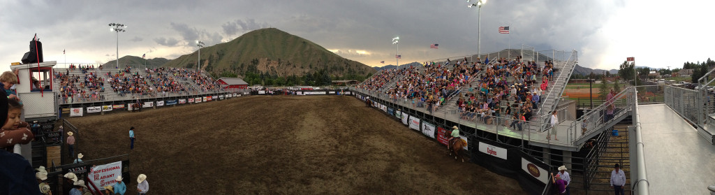 Hailey Rodeo panorama