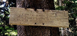 Intimidating trail sign