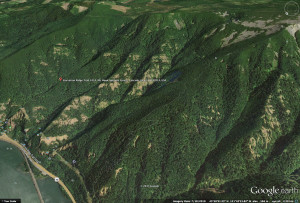 Google earth capture to show incline