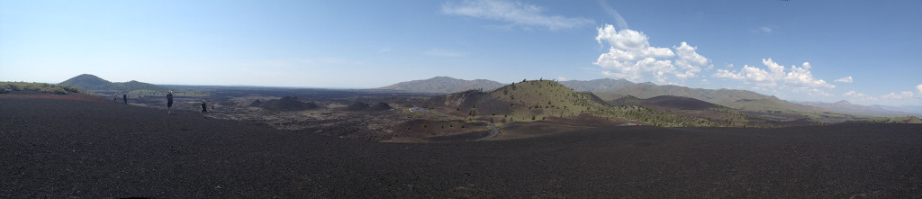 Panorama view of Craters of the Moon National Monument