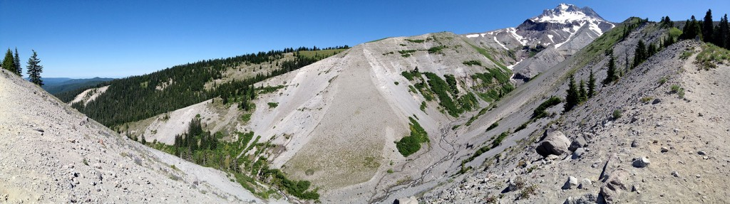 Mt Hood and Zigzag canyon panorama