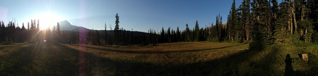 Evening panorama of Elk Meadows