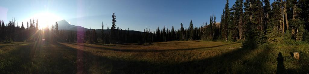 Evening panorama of Elk Meadows