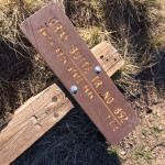 Downed trail sign