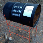 Oregon Department of Fish and Wildlife grouse wing collection barrel