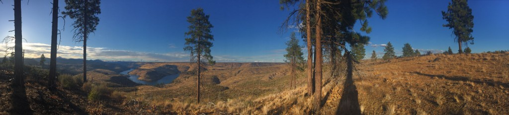 Billy Chinook evening panorama.