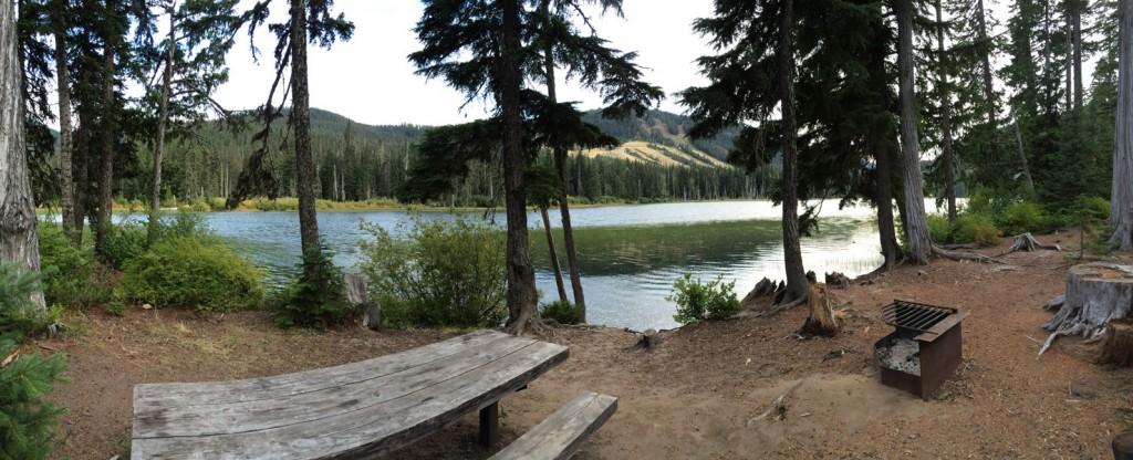 Lakeside camp site!