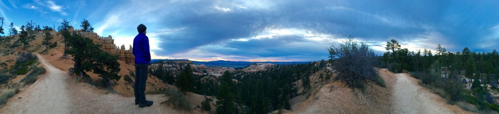 Sunrise panorama from the Rim Trail near the North CG