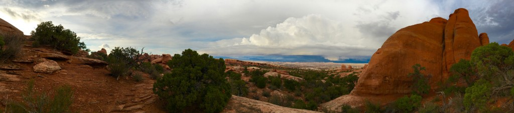 Panorama of an approaching storm