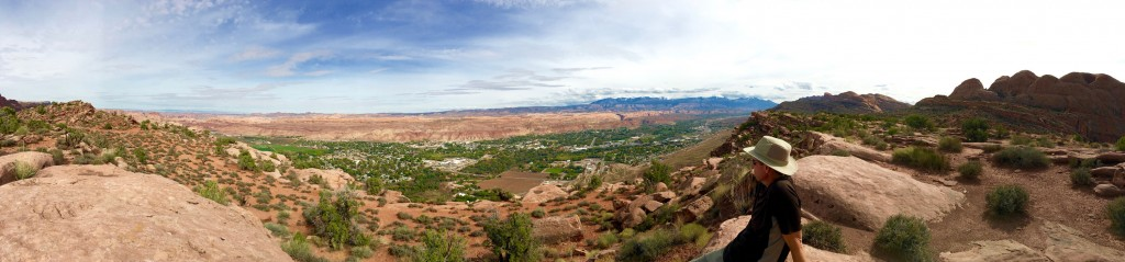 Panorama of Moab from looking east.