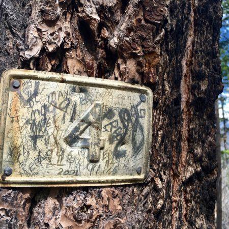 Pot Peak mile marker