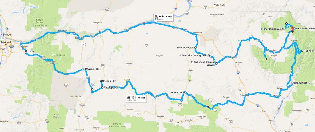 wallowa-trip-map