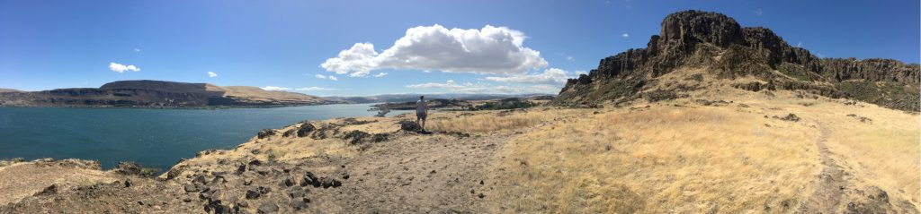 Panorama from Horsethief Butte on the Washington side of the Columbia River Gorge off of Hwy 14