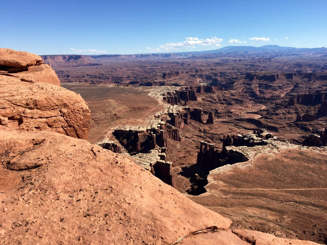 Overlooking the infamous White Rim