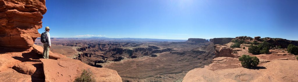 Panorama overlooking White Rim