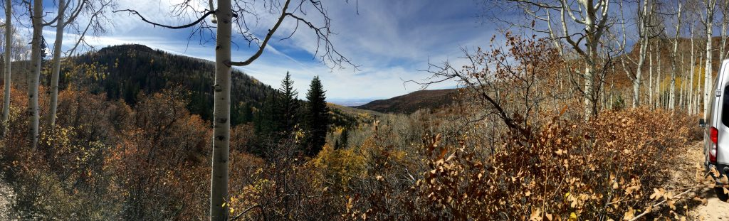 Panorama along the La Sal Mt. Loop