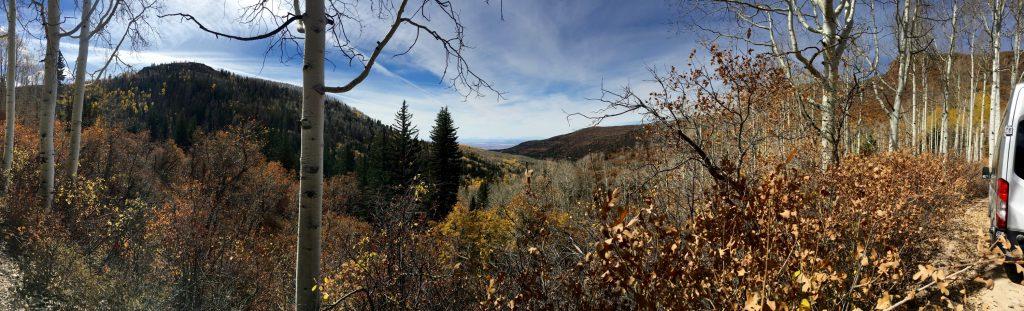 Panorama along the La Sal Mt. Loop
